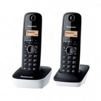 Panasonic KX-TG1612FRW Duo Téléphone Sans Fil Sans Répondeur Noir Blanc