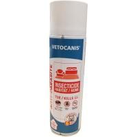 VETOCANIS Spray anti-puces et anti-acariens pour la maison - 500 ml - Pour chat et chien