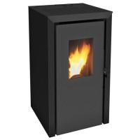 INVICTA Bassano 5 kw Poele a granulés modulable de 2,9 a 5,8 kW - Rendement 93 % - Autonomie 8 h - Flamme Verte 7* - Noir