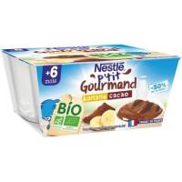 NESTLE P'tit gourmand BIO Banane Cacao 4x90g