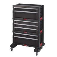 KETER Servante a outils 7 tiroirs - Modulable avec verouillage centralisé - 60 x 38 x 83 cm sur roulettes
