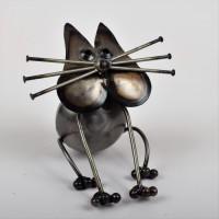 Décoration a poser Petit Chat Assis - L 16 x P 16 x H 14 cm