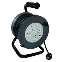 ZENITECH Enrouleur 4 prises 16A - 20m - Pour câble 3G1,5 mm²