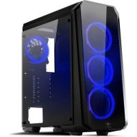 SPIRIT OF GAMER DEATHMATCH 8 - Boîtier GAMINg ATX - Full verre/métal - 4 led fans Bleus