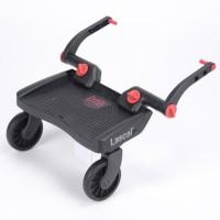 LASCAL Marche poussette Buggy Board MINI Noir/Rouge 3D