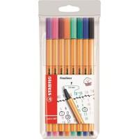 STABILO Pochette de 8 stylos-feutres Format spécial Journal - Point 88 - Coloris assortis
