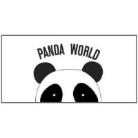 TODAY Tapis enfant 100% coton Panda - 60x120 cm
