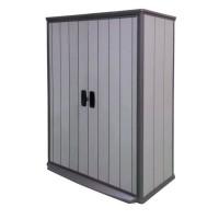 KETER Armoire de rangement en résine 1560L pour le jardin - 138x80,5x185cm - Gris