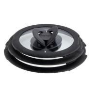 TEFAL Couvercles L9931012 bouton butterfly 16-18-20cm noir et blanc