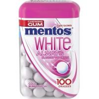 MENTOS GUM WHITE ALWAYS Bottle de 100 dragées sans sucres - Bubble fresh