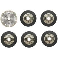 RYOBI Kit 6 disques meuleuse Ø 125 mm
