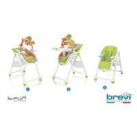 BREVI - Chaise b.fun 2 en 1 transat et chaise réglable en hauteur - couleur bambou