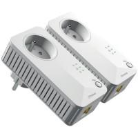 STRONG Kit de 2 Adaptateurs CPL Filaire - 500 Mbit/s - Prise gigogne - 1 Port Ethernet