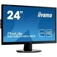 "Ecran PC - IIYAMA ProLite X2483HSU-B3 - 24"" FHD - Dalle A-MVA - 4ms - VGA/DisplayPort/ HDMI"