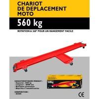 AUTOSELECT Chariot de Déplacement Moto 560 Kg