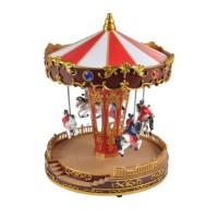 AUTOUR DE MINUIT Carrousel chevaux animé - H 27cm