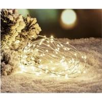 Guirlande de Noël Filaire - 120 Mini LED - Blanc froid
