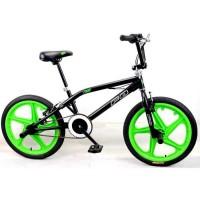 """MERCIER Vélo BMX Freestyle 20"""" 4 Pegs - Noir et vert"""