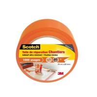 3M SCOTCH Toile adhésive de réparation - 25 m x 48 mm - Orange