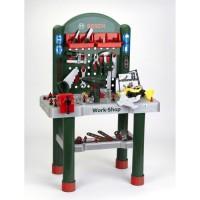 KLEIN - Établi Bosch Workshop avec visseuse mécanique et véhicule a monter - 3 ans et +