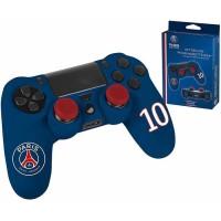 PSG Paris Saint Germain - Pack d'accessoires de customisation pour manette PS4, coque en silicone, grips et sticker - n°10 Bleu