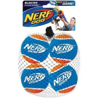 NERF DOG Lot de 4 balles de tennis Blaster - Pour chien