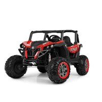 EROAD - Buggy STORM 2 places 4X4 Carbone Rouge 2 places - 12V - Roues gomme - MP3