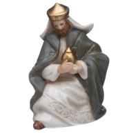 Santons pour Creche - Set de 7 Personnages en Porcelaine - H 12,5 cm