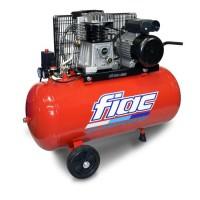 FIAC Compresseur d'air horizontal bicylindre 100 L 3 CV 10 bar - Entraînement courroie