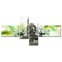 Tableau Déco Zen Bouddha Moderne - 130x65 cm