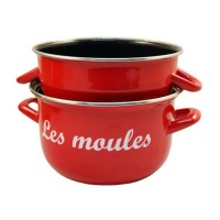 BAUMALU Marmite a moules - 24 cm - Rouge marquage