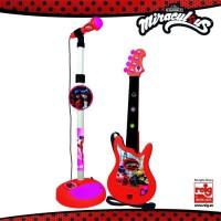 MIRACULOUS/LADYBAG Guitare et microphone - 4 cordes - A piles
