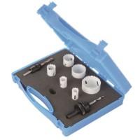SILVERLINE Coffret d'électricien scies-cloches bi-métal 9 pieces