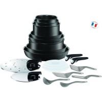 TEFAL Ingenio Performance Batterie de cuisine 20 pieces Noir Tous feux dont induction L6549802