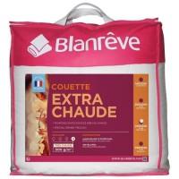 BLANREVE Couette extra chaude en microfibre - 220 x 240 cm - Blanc