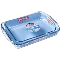 PYREX 912S799/7044 Lot de 2 plats a lasagnes rect. 35x23 cm + 40x27 cm