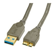 LINDY Câble USB 3.0 type A / micro-B - Anthracite - 1m
