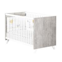 Babyprice - SCANDI GRIS - Lit Bébé 120 x 60