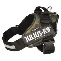 JULIUS K9 Harnais Power IDC 1?L : 63?85 cm - 50 mm - Camouflage - Pour chien