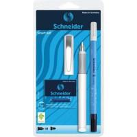 SCHNEIDER Set stylo a plume Smart - Caoutchouc et plume inox - Blanc
