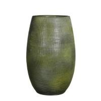 MICA Vase Ingmar - Vert relief - 35 xØ18 cm