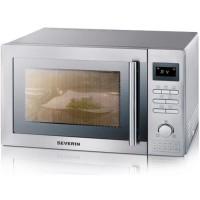SEVERIN MW 7868 micro-ondes combiné inox brossé - 25 L - 900 W - Grill 1400 W - Four chaleur tournante 2400 W - Pose libre