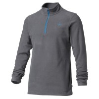 WANABEE Sweat Polaire 1/2 Zip - Homme - Gris Anthracite
