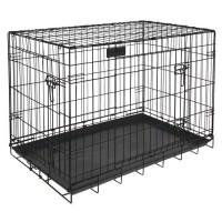 RIGA Cage pour chien - Taille XXL - Noir - 120 cm
