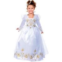 CESAR - B454 - Robe fée Blanche et Or - 5 / 7 ans