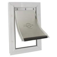 PETSAFE Porte Staywell cadre en aluminium - Blanc - Pour chat ou chien jusqu'a 100 kg