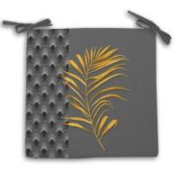 Galette de chaise Gold - 40 x 40 cm - Gris anthracite