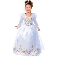 CESAR - B454 - Robe fée Blanche et Or - 8 / 10 ans