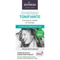 DEVINEAU Huile essentielle pour diffuseur - Parfum d'ambiance 100% biologique - 10 ml - Synergie tonifiante