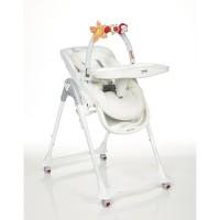 BREVI - Convivio chaise multipositions avec arche jeux+coussin - Imprimé lapinou perle